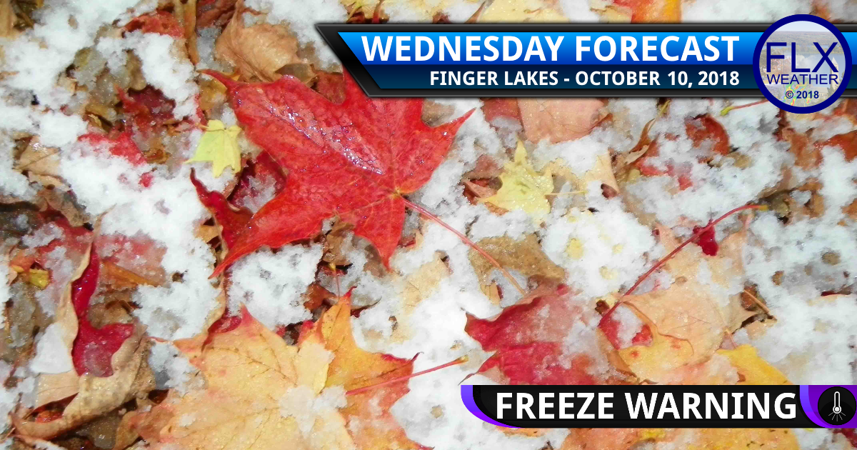 finger lakes weather forecast wednesday october 17 2018 first snow freeze warning cold front