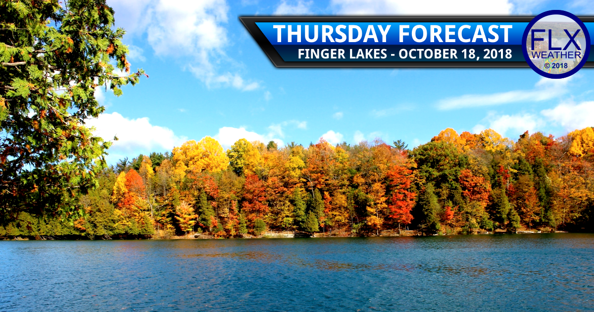 finger lakes weather forecast sunny high pressure cold temperatures breezy