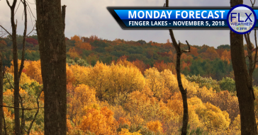 finger lakes weather forecast monday november 5 2018 rain wind clouds warm sun cooler