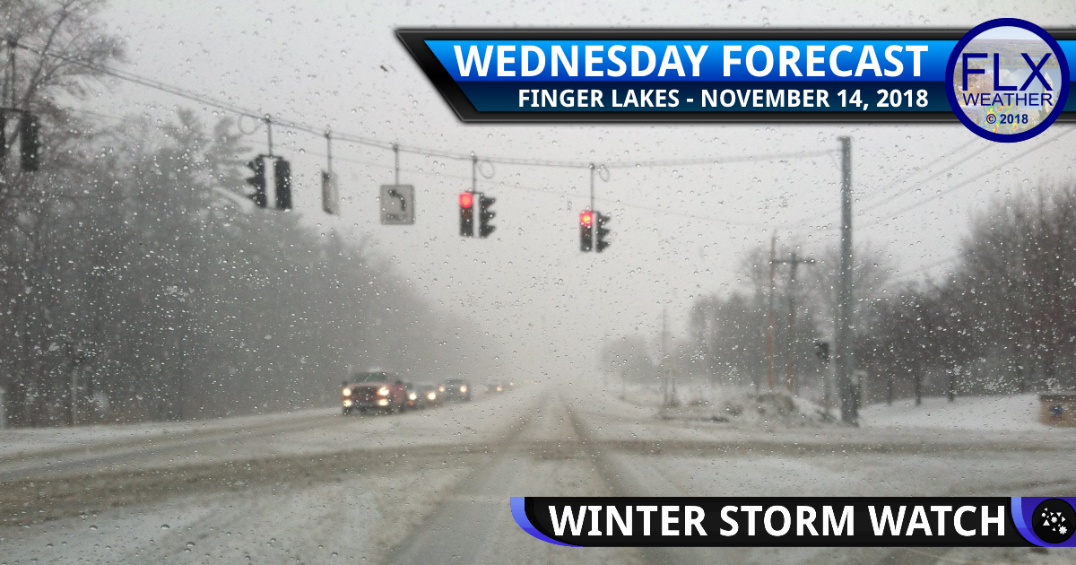 finger lakes weather forecast winter storm watch lake effect snow mixed preciptiation noreaster