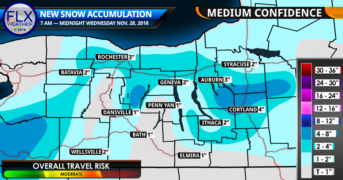 Snow Continues Throughout Wednesday With Additional Accumulations