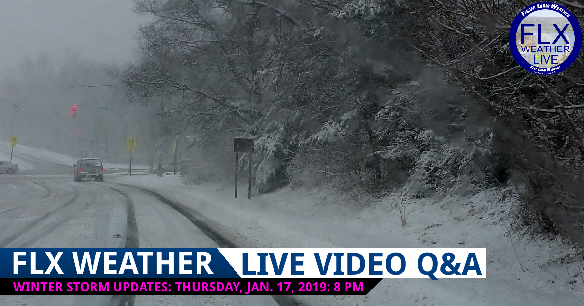 finger lakes weather forecast live video question and answer january 19-20 2019 snow storm