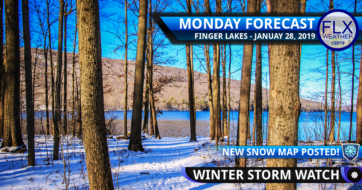 finger lakes weather forecast monday janauary 28 2019 winter storm watch snow lake effect wind chill bitter cold