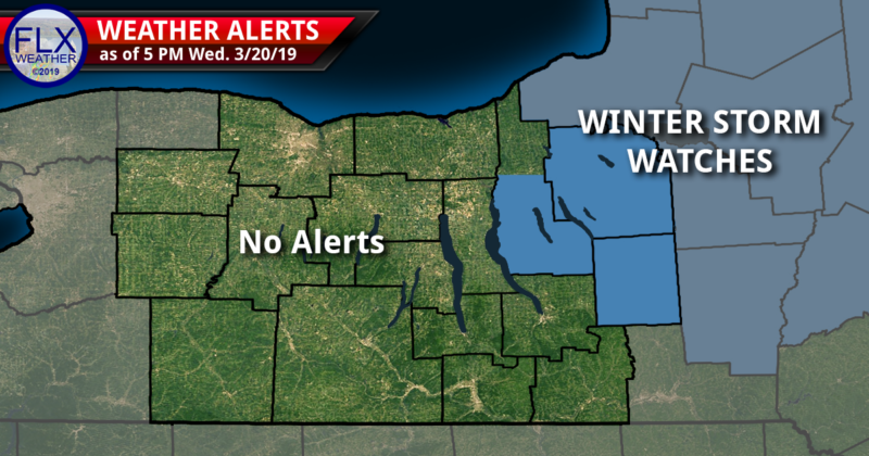 Winter Storm Watches posted for northeastern Finger Lakes
