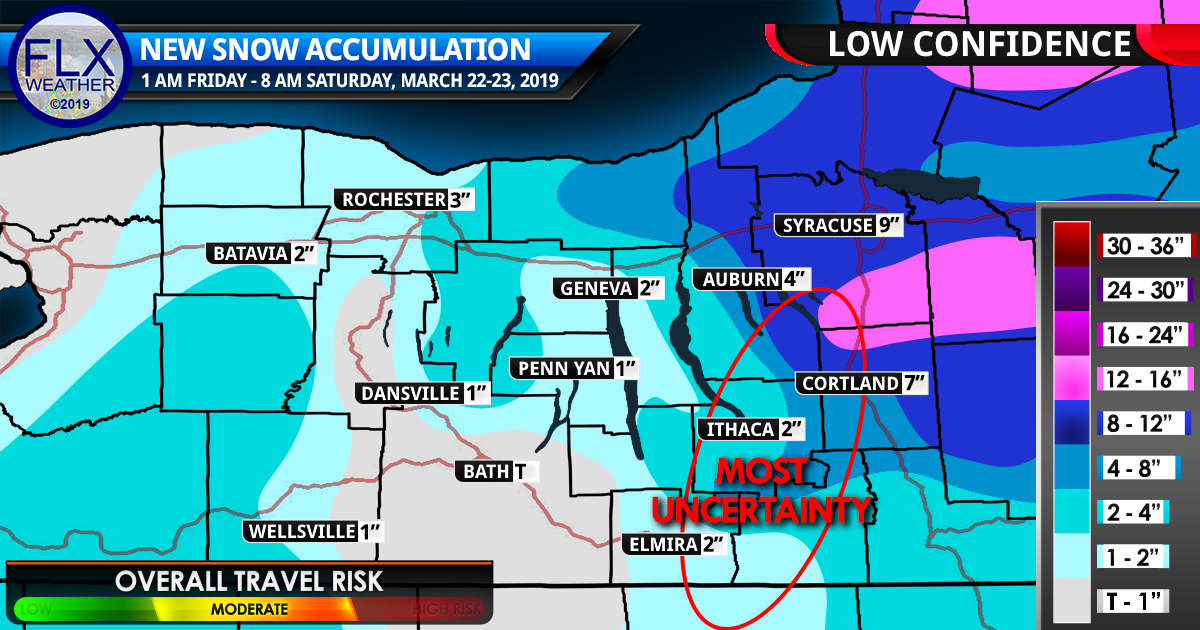 finger lakes weather forecast snow accumulation map friday march 22 2019
