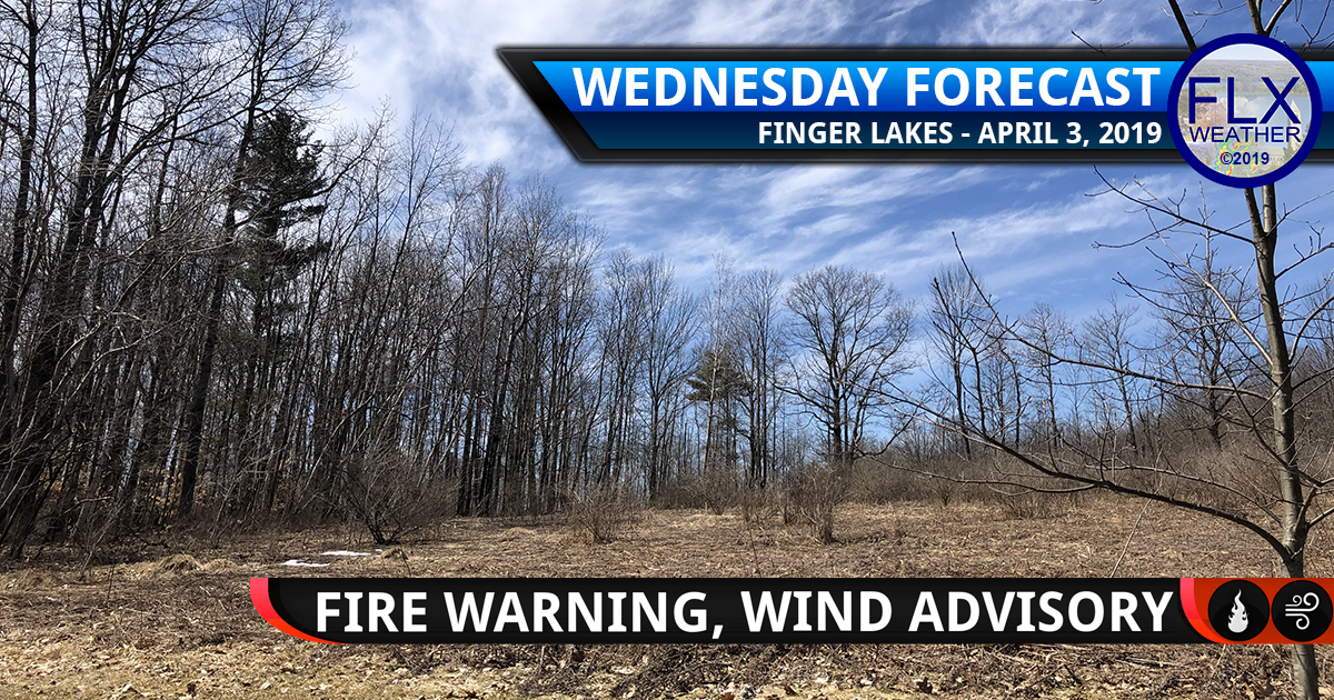 finger lakes weather forecast wednesday april 3 2019 wind gusts brush fire red flag warning