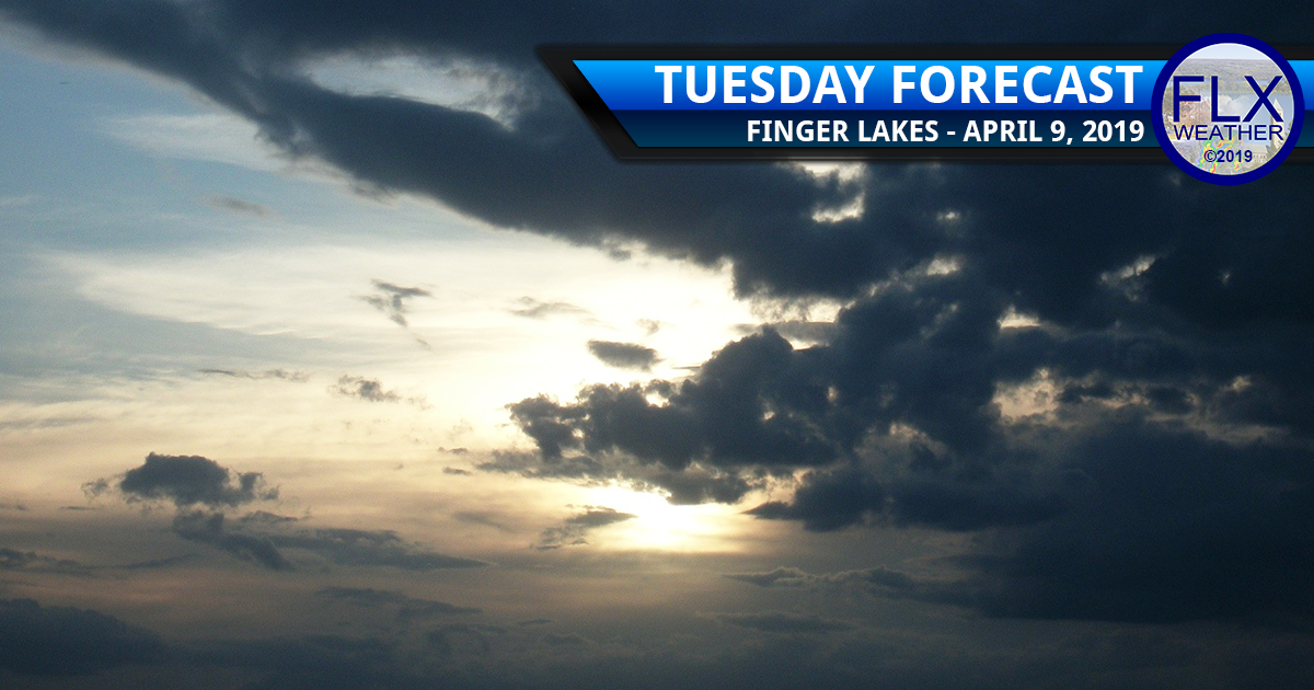 finger lakes weather forecast tuesday april 9 2019 sun clouds rain thunderstorms cold front