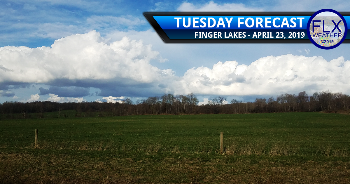 finger lakes weather forecast tuesday april 23 2019 sun clouds warm windy rain thunder cold front cooler