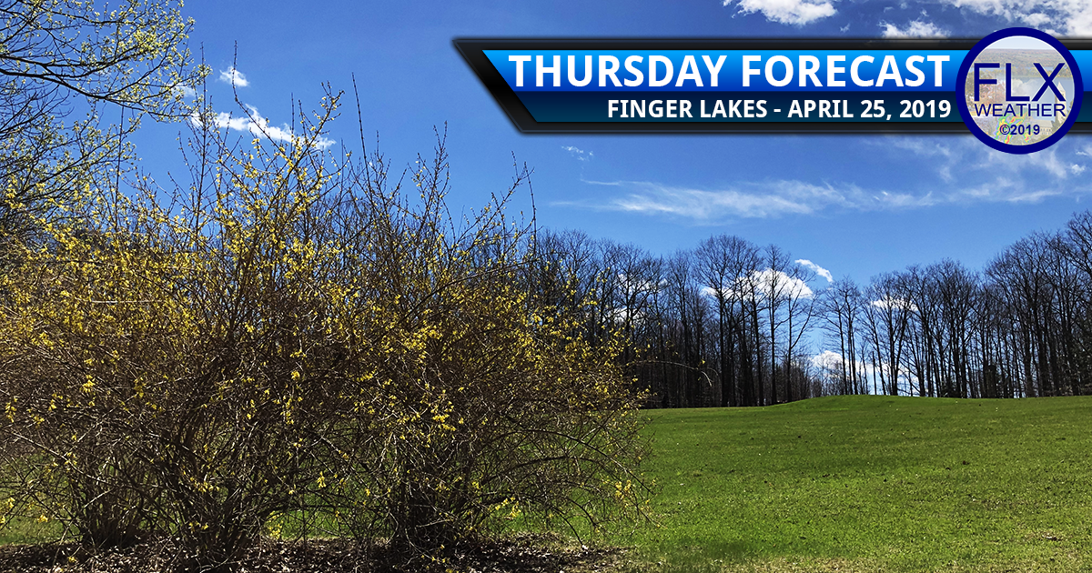 finger lakes weather forecast thursday april 25 2019 sunny mild nice weather