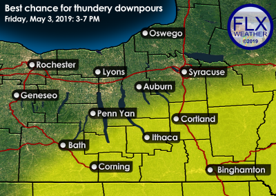 finger lakes weather thunderstorm forecast map friday may 3 2019