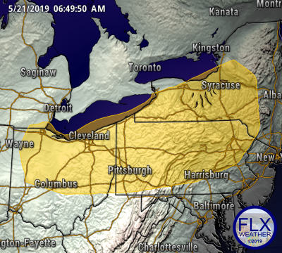 finger lakes weather forecast severe thunderstorm outlook day 5 saturday may 25 2019