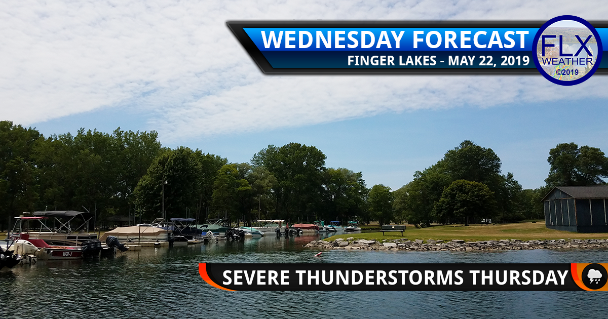 finger lakes weather forecast wednesday may 22 2019 severe thunderstorms thursday may 23 2019