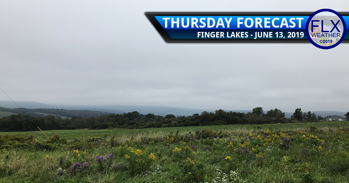 finger lakes weather forecast thursday june 13 2019 rain windy cool below normal temperatures