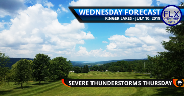 finger lakes weather forecast wednesday july 10 2019 hot humid severe thunderstorms thursday july 11 2019