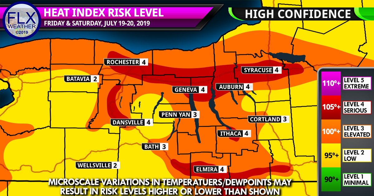 finger lakes weather forecast friday july 19 2019 heat index excessive heat warning heat safety