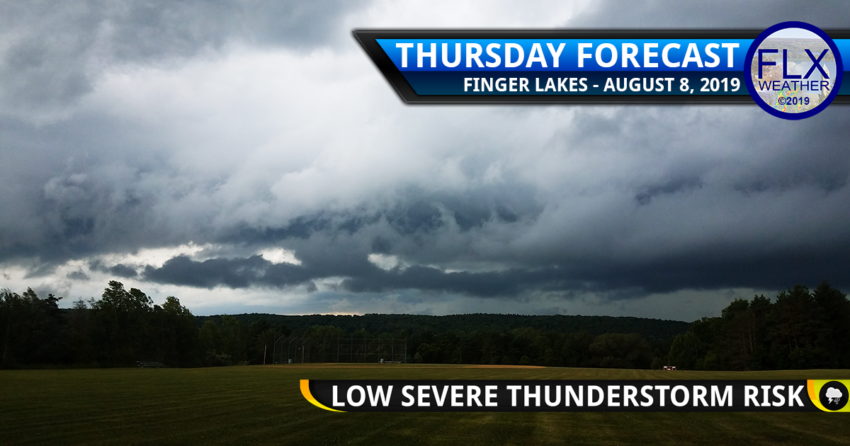 finger lakes weather forecast thursday august 8 2019 level 2 low severe thunderstorm risk damaging winds hail lightning