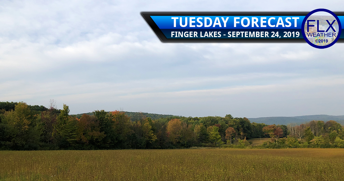 finger lakes weather forecast rain clouds cool windy sunny warm wednesday