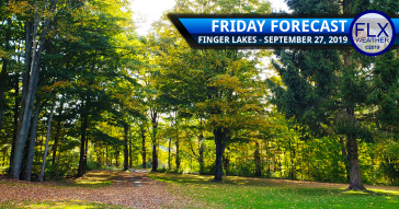 finger lakes weather forecast friday sun mild saturday warm rain thunderstorms sunday cool sunshine