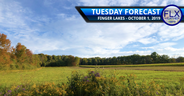 finger lakes weather forecast tuesday october 1 2019 hot humid thunderstorms rain cold front chilly